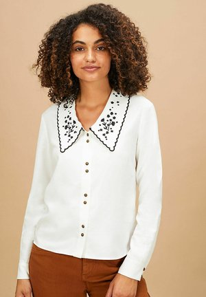 Overhemdblouse - blanc casse