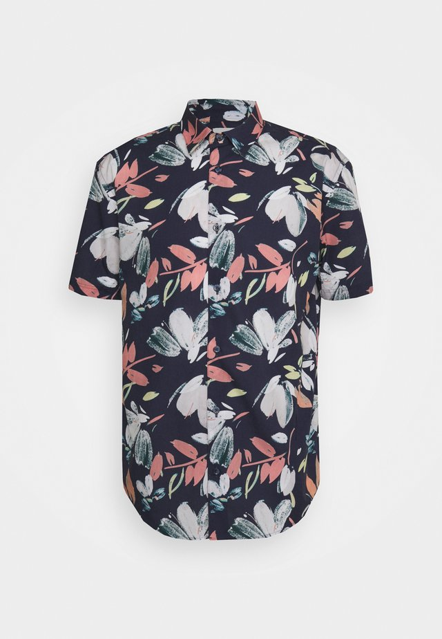 HAND DRAWN FLORAL - Camicia - sea