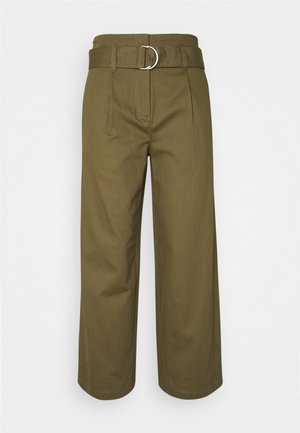 KELSEY - Trousers - dark olive