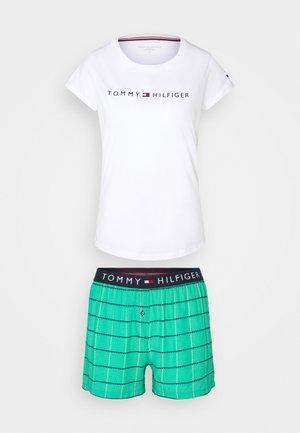 ORIGINAL SHORT PRINT - Pyjama set - white/emerald