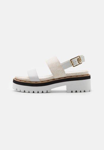 SUMMER - Platform sandals - white/milk