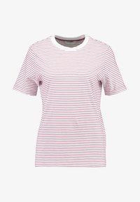 Pieces - PCRIA FOLD UP TEE - Print T-shirt - bright white/malaga - 4