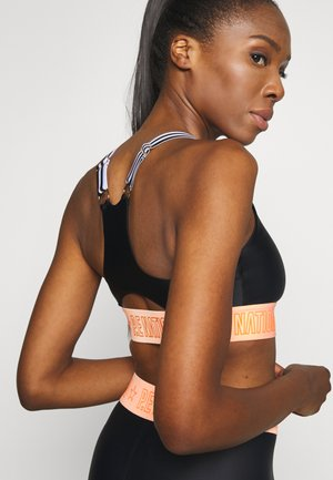 FRONT SIDE SPORTS BRA - Sports bra - black