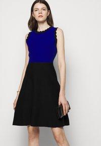 Milly - SCALLOPED COLORBLOCK - Jumper dress - black/azure - 3