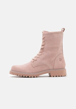 Lace-up ankle boots - rose