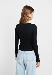 Nly by Nelly - BUTTON - Long sleeved top - black - 2