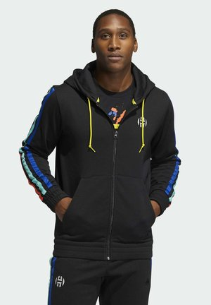 HARDEN FLEECE FULL-ZIP HOODIE - Sudadera con cremallera - black