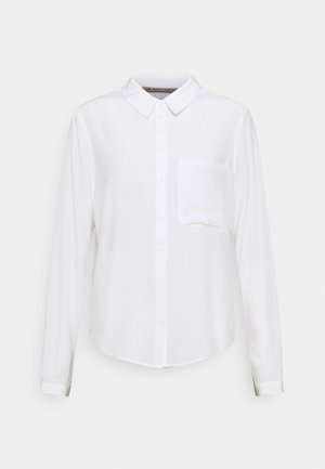 Basic Blouse with pocket - Button-down blouse - off-white