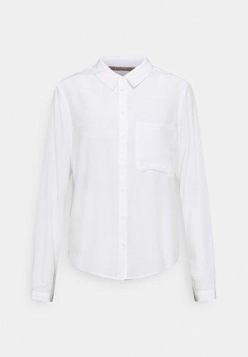 Basic Blouse with pocket - Skjorte - off-white