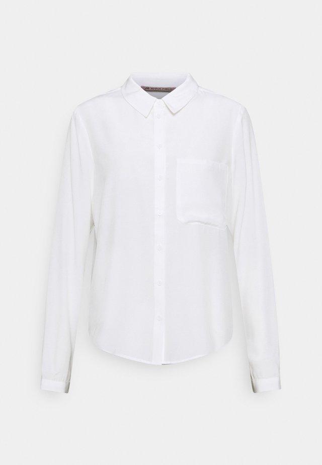 Basic Blouse with pocket - Overhemdblouse - off-white