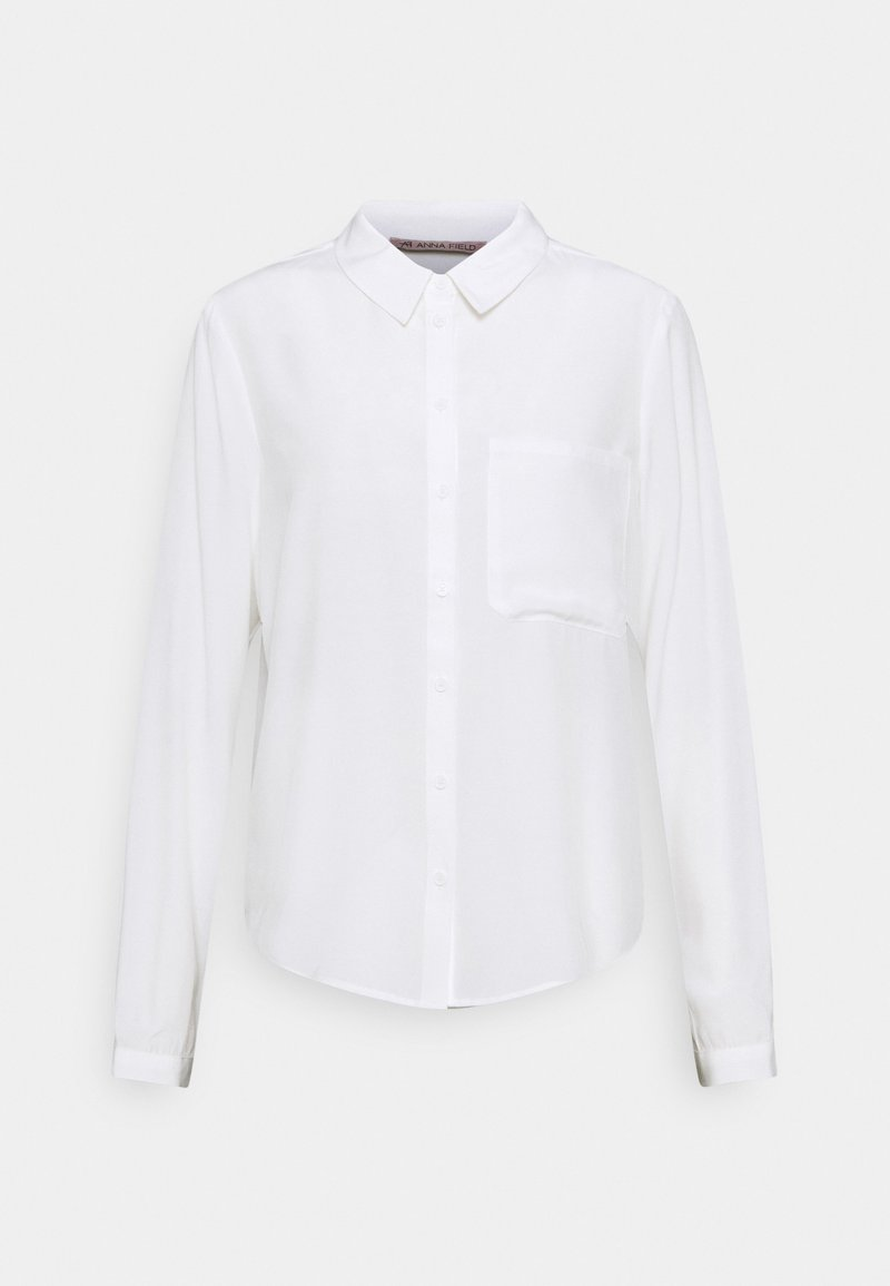 Anna Field - Basic Blouse with pocket - Button-down blouse - off-white
