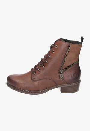 Lace-up ankle boots - brown/reh