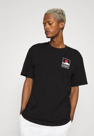 SUNSET ON MT FUJI UNISEX - Print T-shirt - black