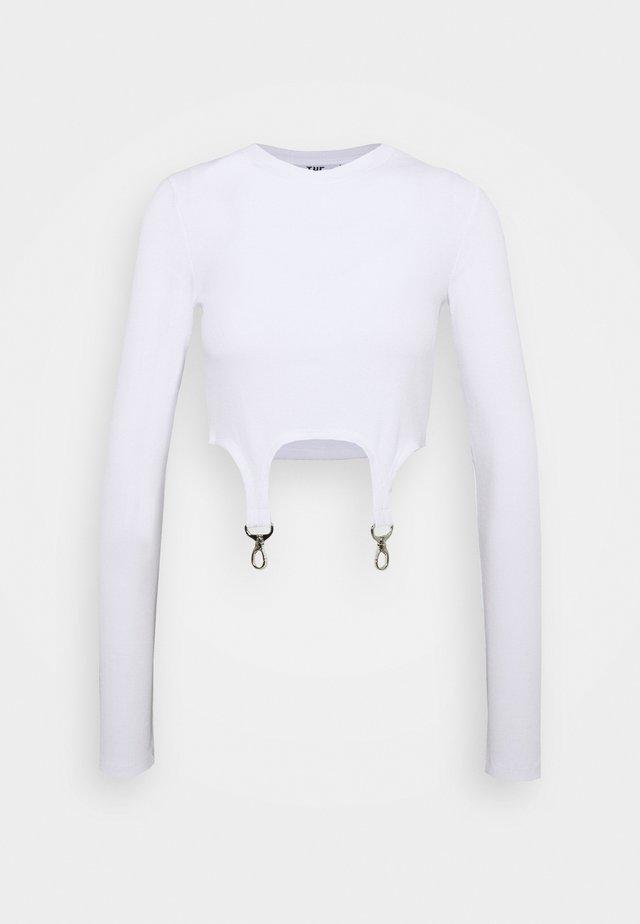 LONGSLEEVE RINGER TRIGGERS - Long sleeved top - white