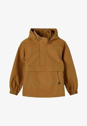 Waterproof jacket - brown, camel
