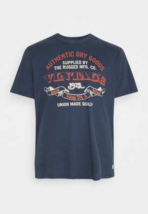 RUNNER TEE CREW NECK - Print T-shirt - mood indigo