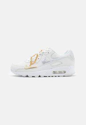 AIR MAX 90 - Sneakers - summit white/dark beetroot/white/metalic gold