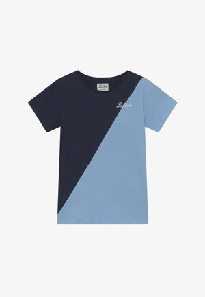 SPLIT - T-shirt z nadrukiem - navy/light blue