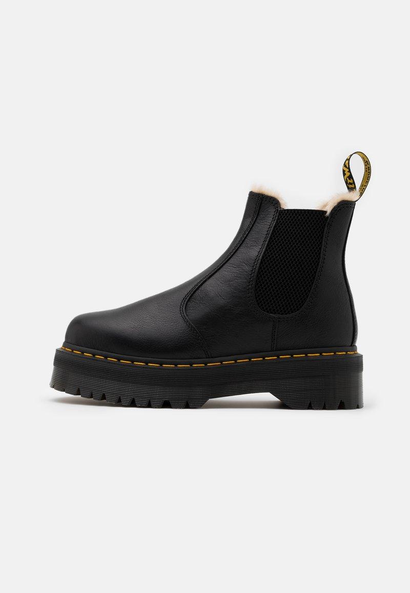 Dr. Martens - 2976 QUAD - Platform ankle boots - black/natural