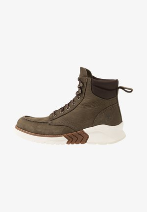 TOE BOOT - Lace-up ankle boots - olive