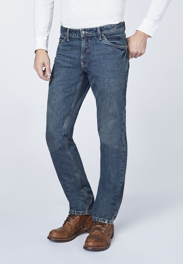 LAKE - Straight leg jeans - dark blue denim