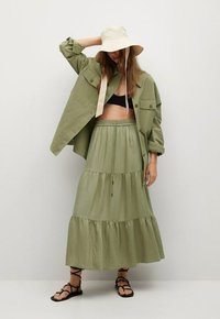 Mango - BAMBU - Maxi skirt - khaki - 1