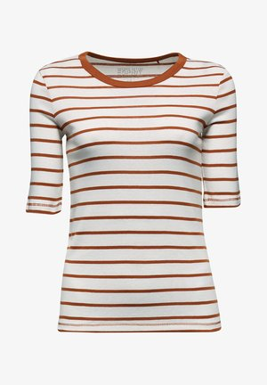 T-shirts med print - rust brown