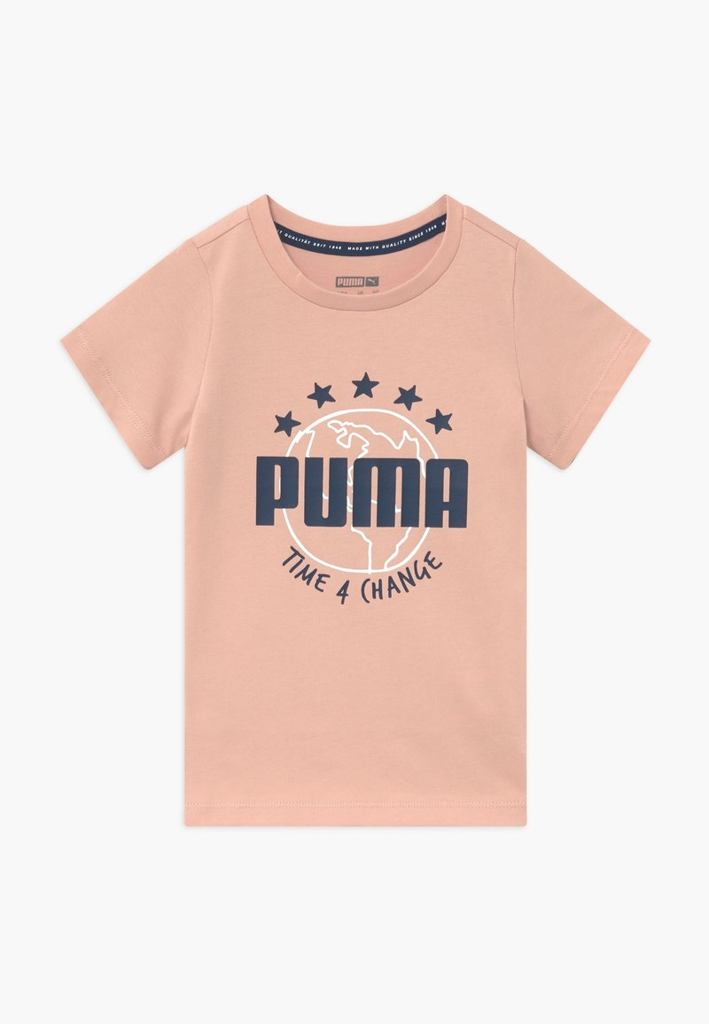 Puma - TIME FOR CHANGE TEE - T-shirt con stampa - pink sand