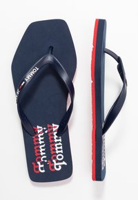 Tommy Jeans - SQUARE TOE BEACH  - Flip Flops - twilight navy - 3
