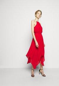 MICHAEL Michael Kors - PLEATED HALTER  - Cocktail dress / Party dress - crimson - 1