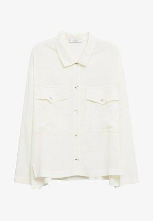 MIT TASCHEN - Summer jacket - ecru