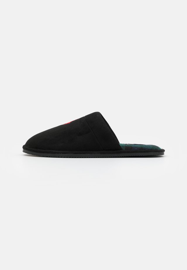 KLARENCE  - Slippers - black/red