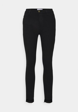 LE HIGH SKINNY RAW STAGGER - Jeans Skinny Fit - film noir