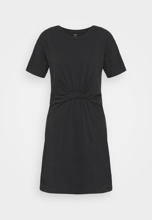 KNOT FRONT DRESS - Jersey dress - true black