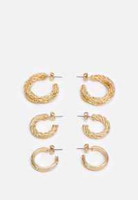 PCFADEMINA HOOP EARRINGS 3 PACK - Earrings - gold-coloured