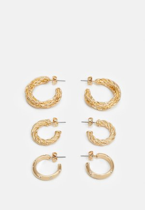 PCFADEMINA HOOP EARRINGS 3 PACK - Boucles d'oreilles - gold-coloured