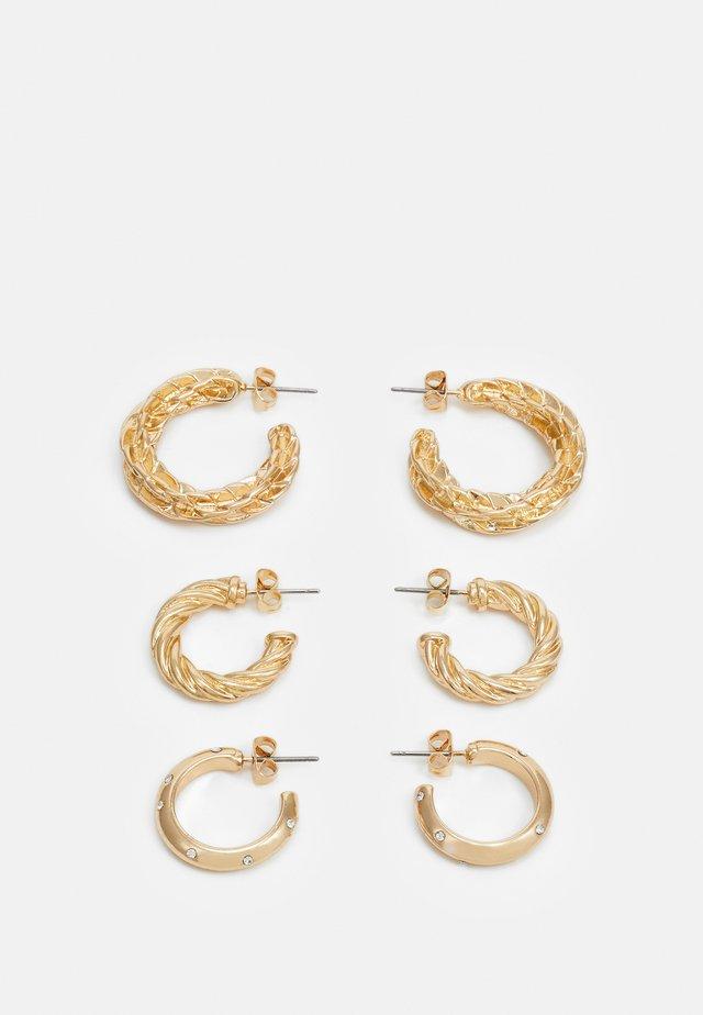 PCFADEMINA HOOP EARRINGS 3 PACK - Øredobber - gold-coloured