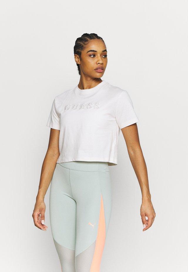 T-shirt basic - white blush