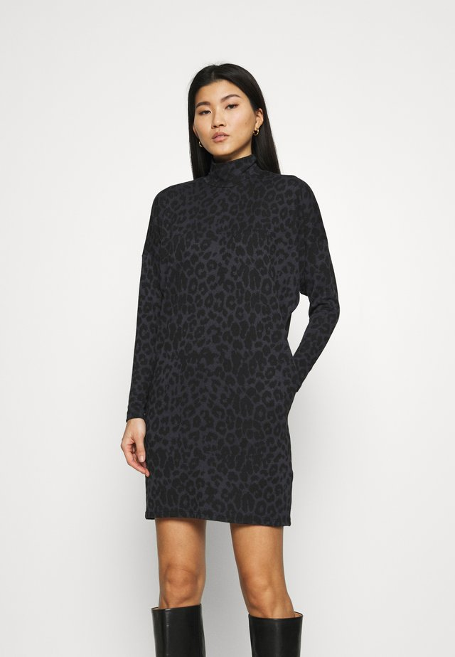 PONTE BATWING DRESS - Jumper dress - black