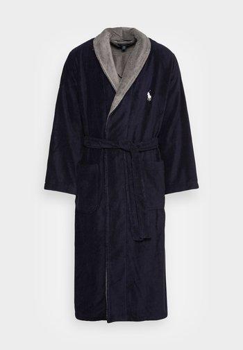 SHAWL UNISEX - Dressing gown - cruise navy museum grey collar