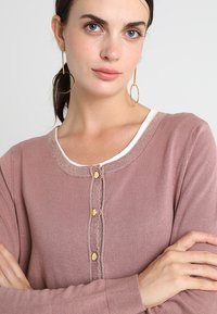 Cream - TAMMY CARDIGAN - Cardigan - old rose - 4