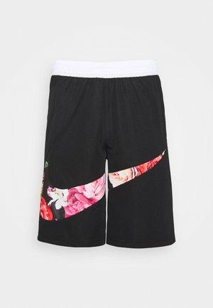 FLORAL SHORT - Sports shorts - black/white