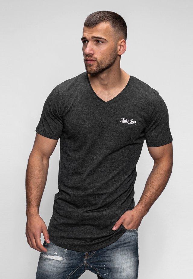 NEWRAR  - Basic T-shirt - dark grey melange