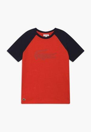 Print T-shirt - corrida/navy blue
