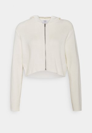 ZIP CARDIGAN - Kardigan - white