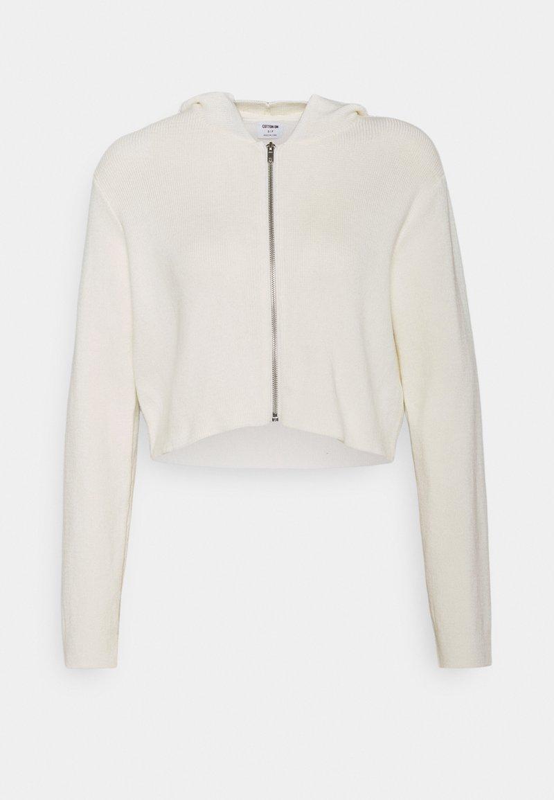 Cotton On - ZIP CARDIGAN - Vest - white