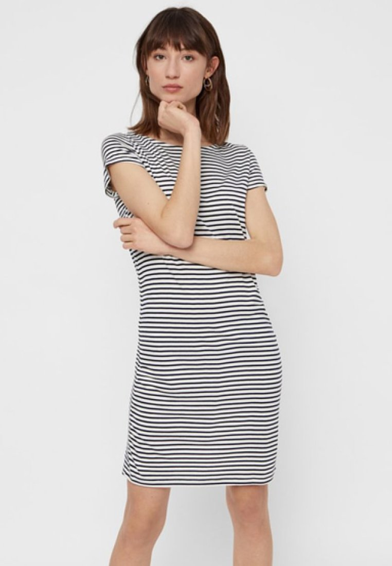 Pieces - PCBILLO SS DRESS NOOS - Jersey dress - light grey