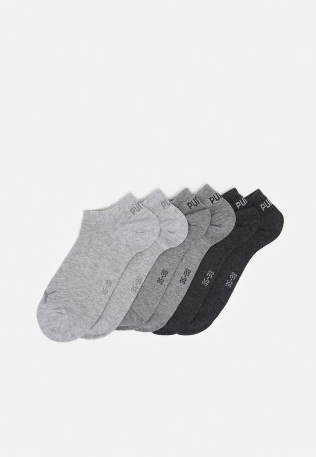 SNEAKER PLAIN 6 PACK UNISEX - Sports socks - grey combo