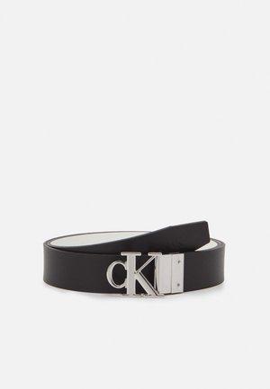 MONO ROUND PLAQUE - Belt - black