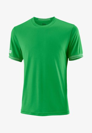 TEAM SOLID CREW KURZARM - Basic T-shirt - green